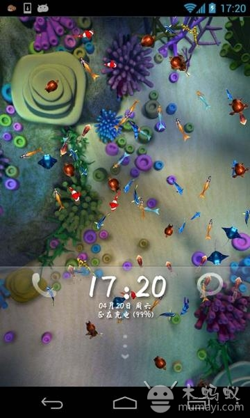 唯美海底世界锁屏v5.8_主题壁纸_软件_木蚂蚁安卓市场