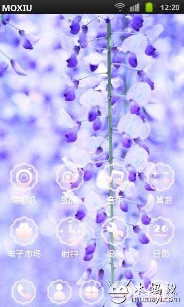 紫藤花魔秀桌面主题app3.0.0_android手机版下载_宝气