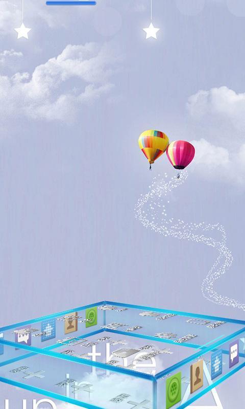 小清新热气球宝软主题下载