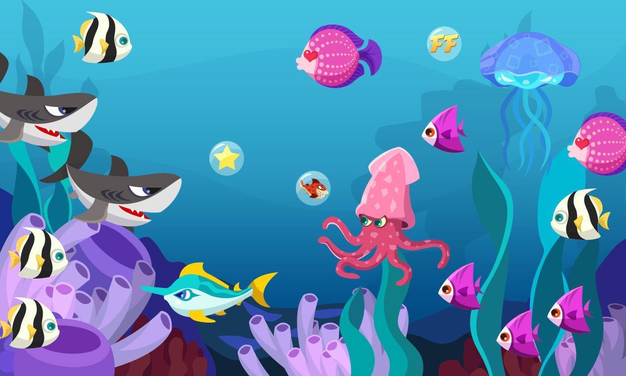 seaworld  海底世界动态壁纸,省电,有趣,点击可以交互.