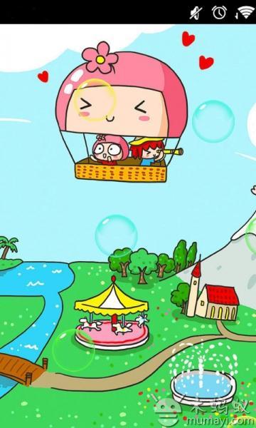可爱卡通女孩动态壁纸下载