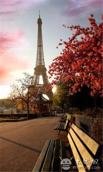 唯美创意巴黎铁塔高清壁纸v3