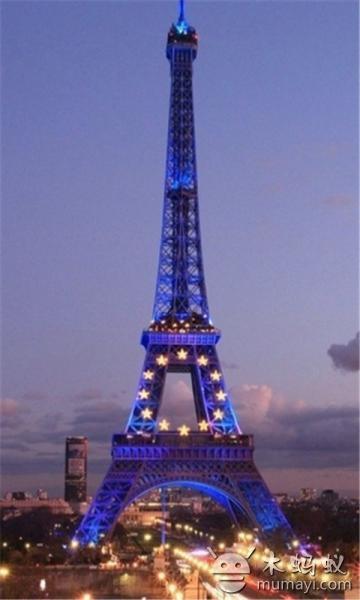 唯美创意巴黎铁塔高清壁纸