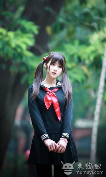 清纯可爱校服学生妹动态壁纸v3