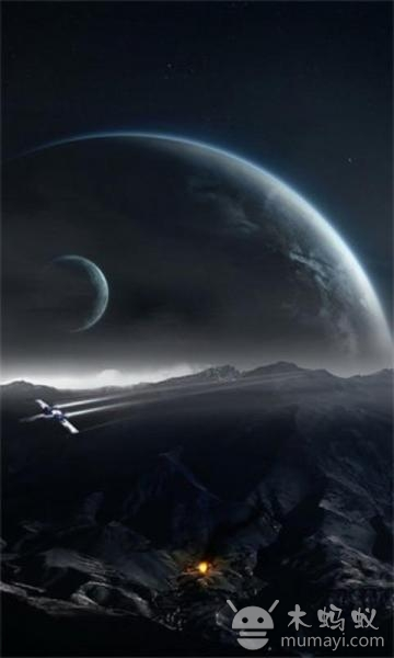 惊人的动画背景与浮动小行星,小 太空主题高清手机壁纸图片