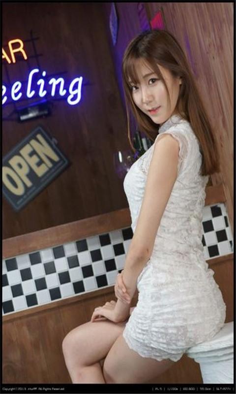 韩国白裙子模特酒吧动态壁纸 v1.0