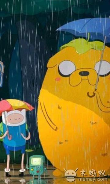 下雨的可爱图片欣赏