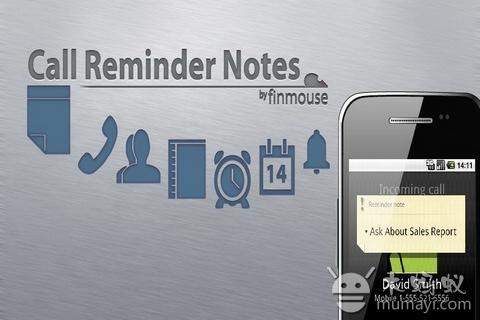 提醒备忘录 Call Reminder Notes Trial V4.1.3