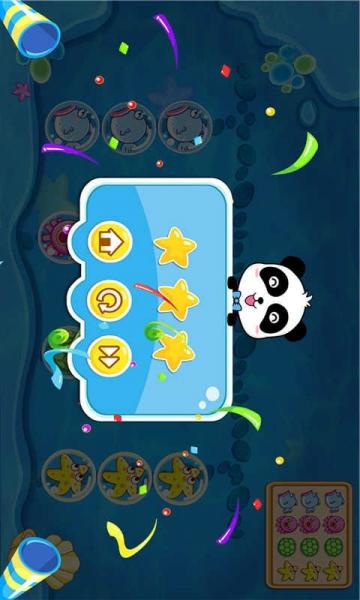 趣味十足的海底世界,活泼可爱的海洋动物,还有充满挑战的游戏滑道