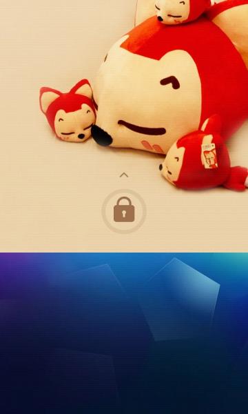 可爱电话宝宝锁屏壁纸