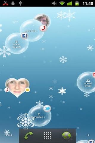 通知泡泡动态壁纸 notification bubbles
