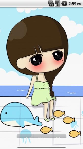 可爱小希背景图案