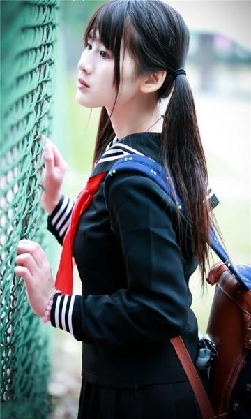 清纯可爱校服学生妹动态壁纸