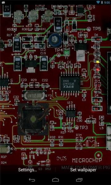 电路板动态壁纸:acircuit
